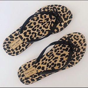 Kate Spade Cheetah Print Flip Flops Sz 7-8